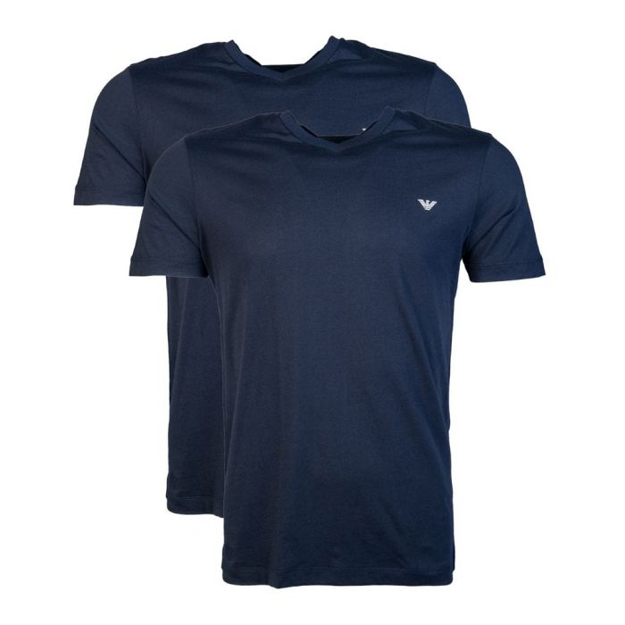 Image for 2pc dark blue cotton T-shirt set