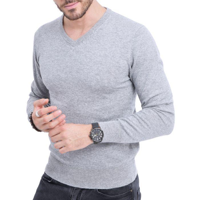 Image for Frosted cashmere blend V-neck jumper