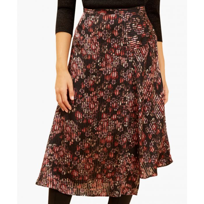 Image for Calla multi-coloured printed midi skirt