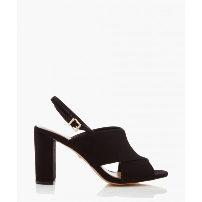 Image for Arco black crisscross heeled sandals