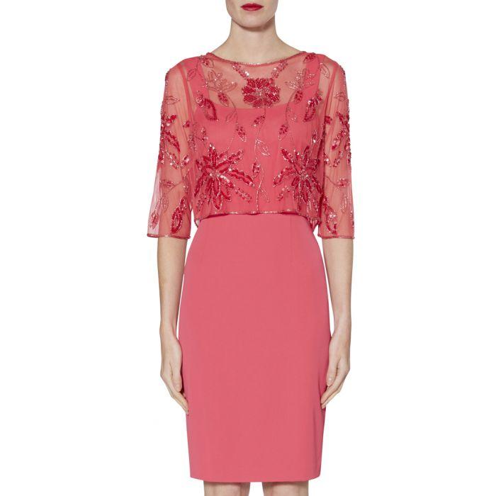 Image for Susannah flamingo pink dress