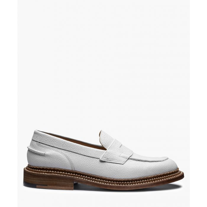 Image for White leather loafers