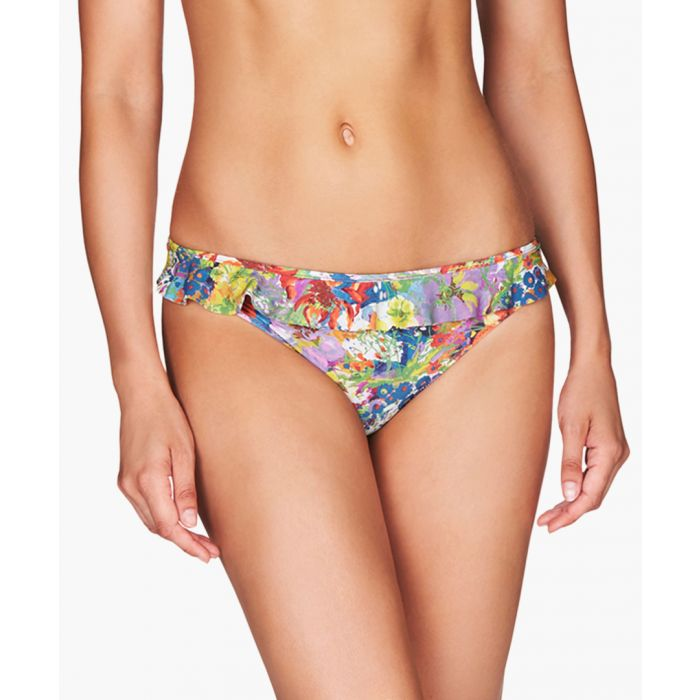 Image for Yellow floral print bikini briefs