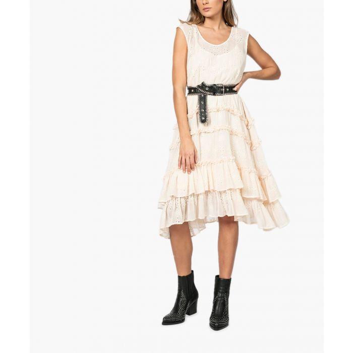 Image for Fate peach whip ruffle midi dress