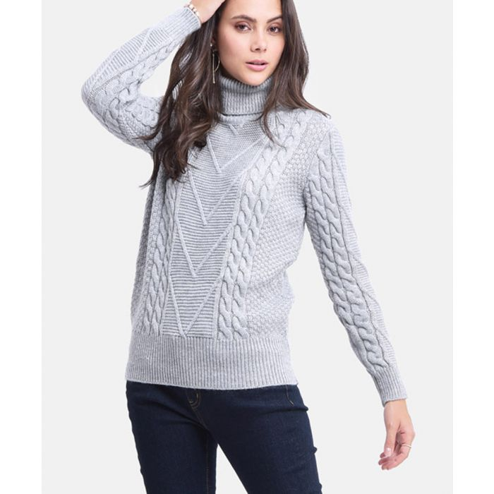 Image for Grey cashmere & mohair knit jumper