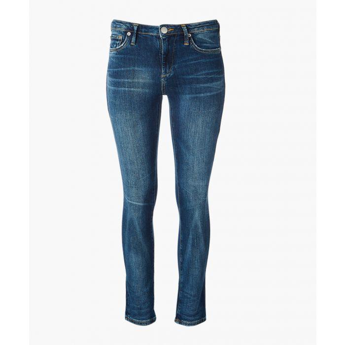 Image for Denim blue cotton blend jeans