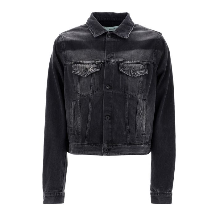 Image for Exaggerated black cotton denim jacket