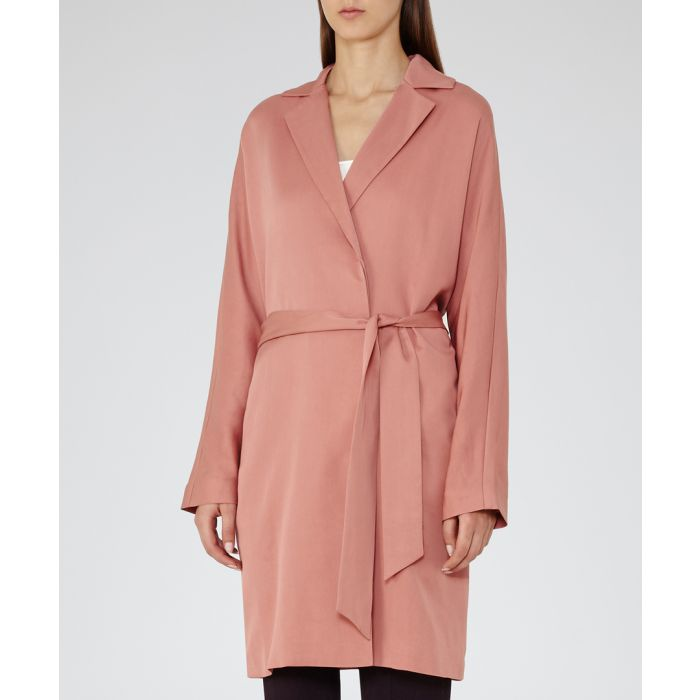 Image for Womens Manhattan blush trench coat