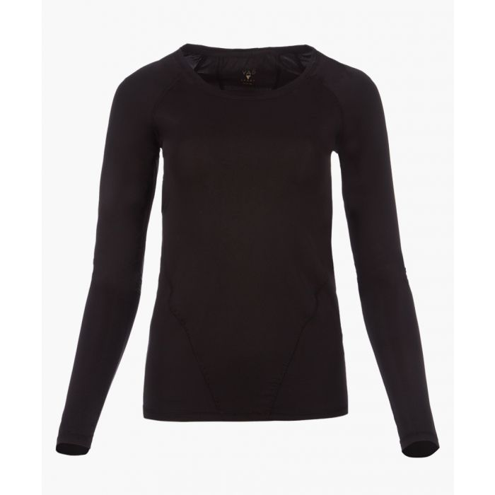 Image for Carly black long-sleeved top