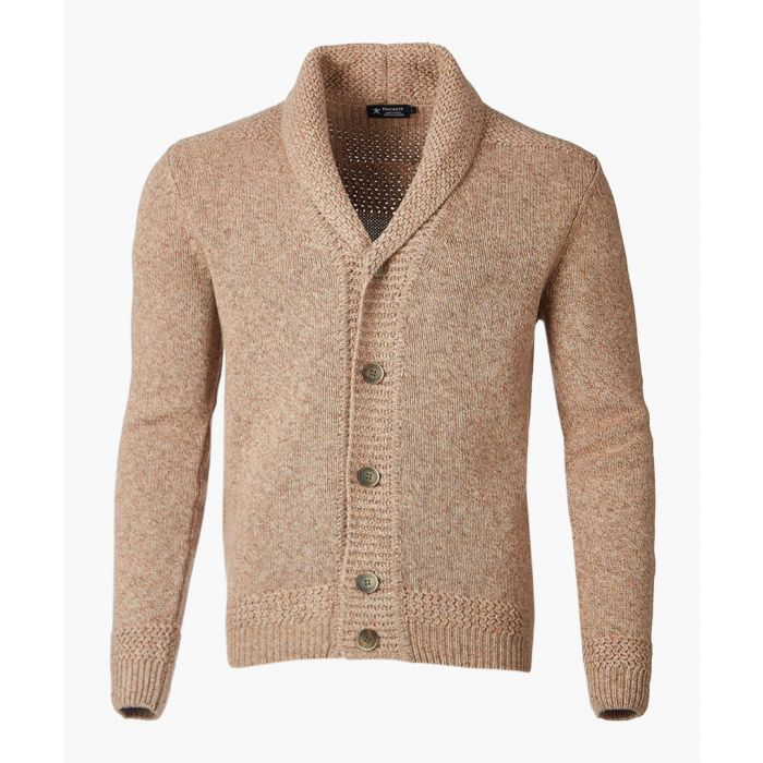 Image for Taupe English rib cardigan