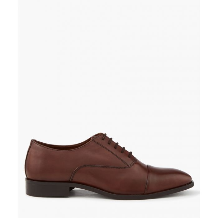 Image for Brown leather Derby shoes