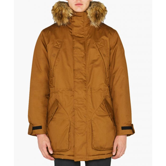 Image for Men's camel pure cotton parka coat