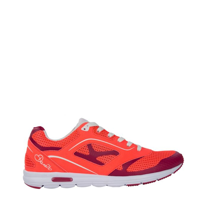 Image for Womens Coral & red lace-up sneakers