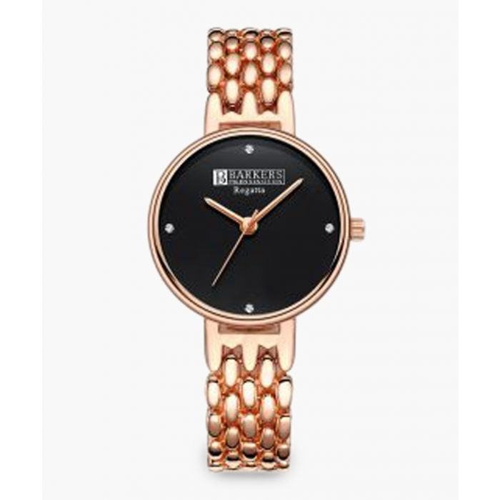 Image for Regatta black and rose gold-plated watch