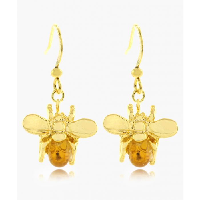 Image for The Bee 16k gold-plated earrings