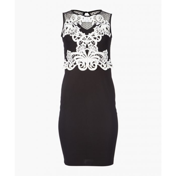 Image for Monochrome lace dress