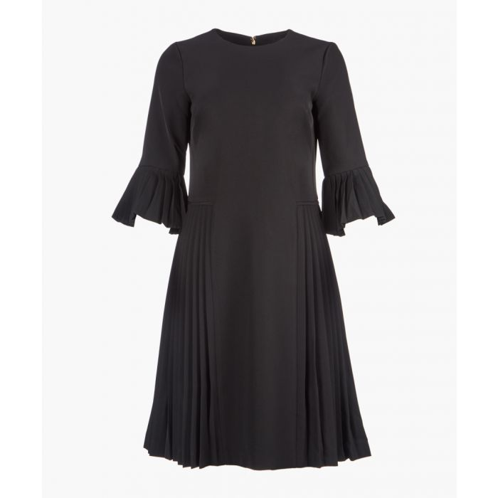 Image for Black short sleeve shift dress