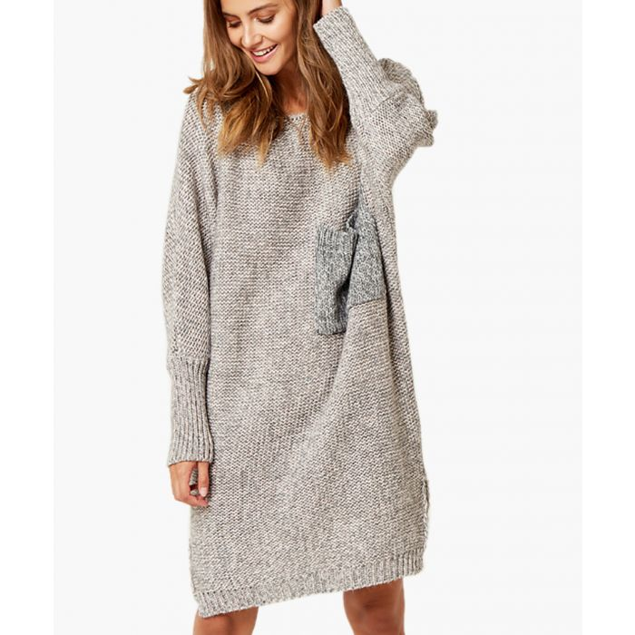 Image for Powder pink and grey kimono cut jumper