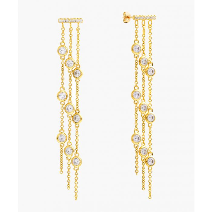 Image for Lily 18k yellow gold-plated earrings