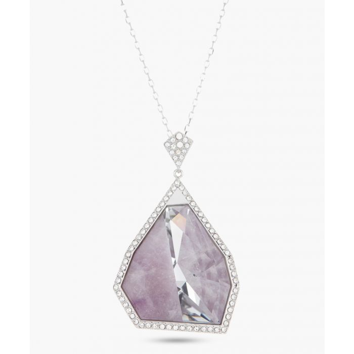 Image for Lilac cubic zirconia motif necklace