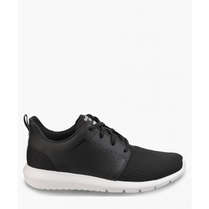 Image for Foreflex black and white lace-up trainers