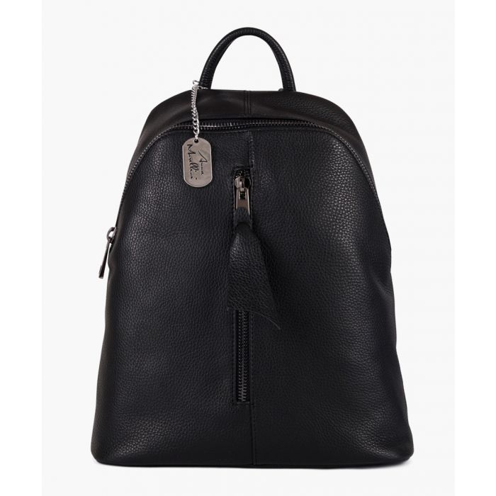 Image for Giorgia black leather shoulder bag