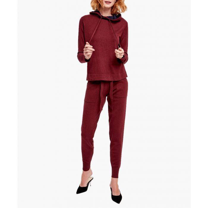 Image for Wine red cashmere blend jumper and trousers set