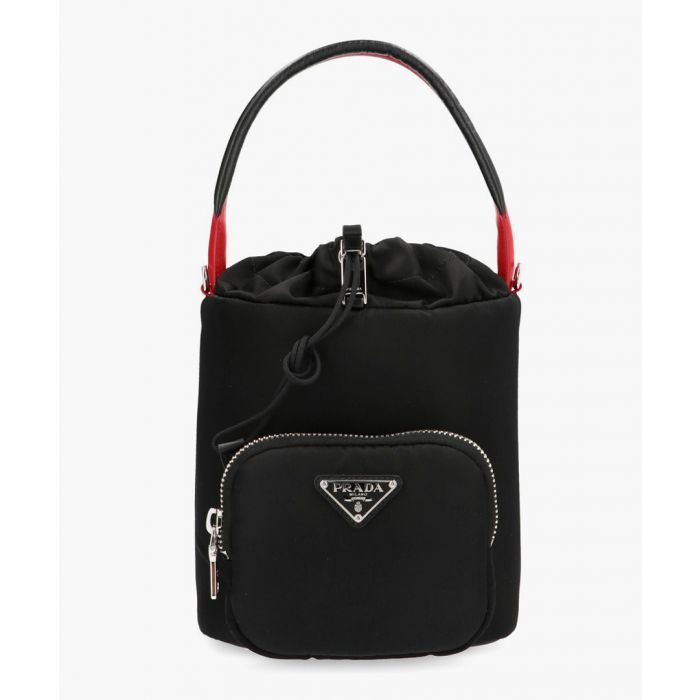 Image for Black leather grab bag