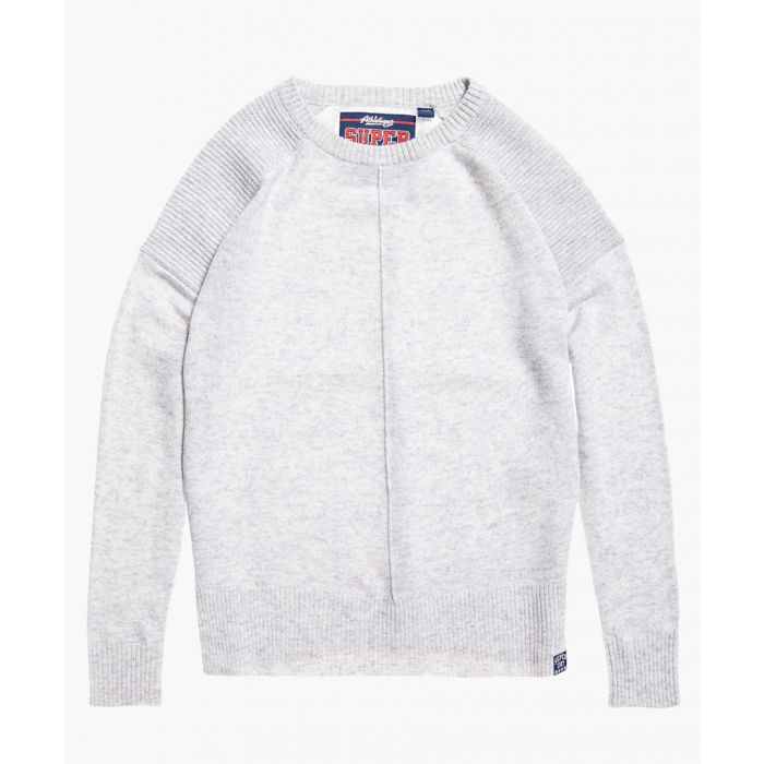 Image for Bria grey wool blend raglan knit jumper