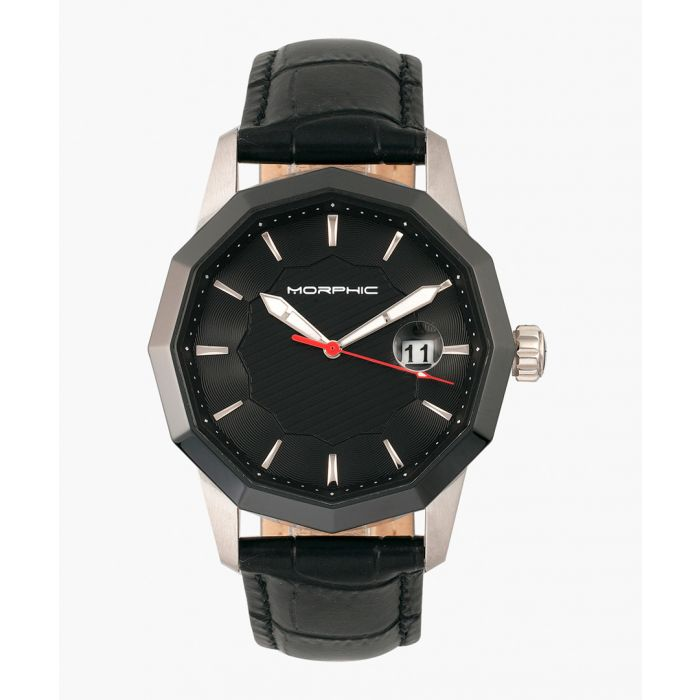 Image for M56 Series leather and stainless steel analogue watch
