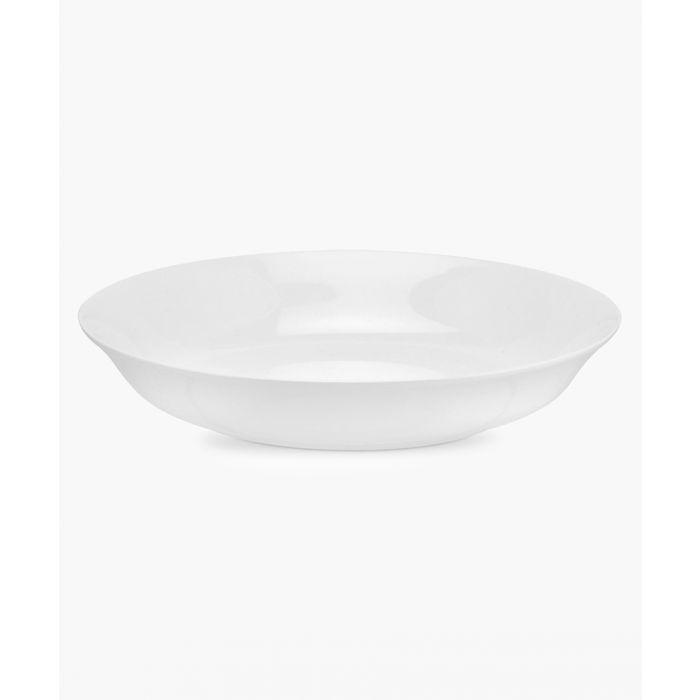 Image for 4pc Serendipity plain white bone china pasta bowls
