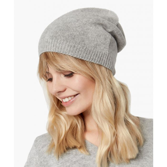 Image for Light grey pure cashmere hat