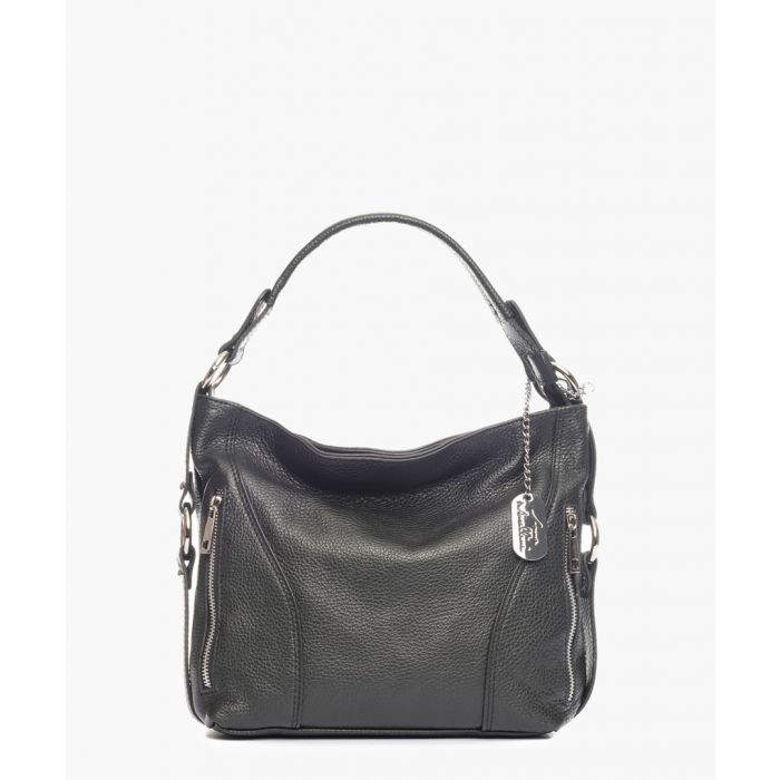 Image for Edera black leather clutch