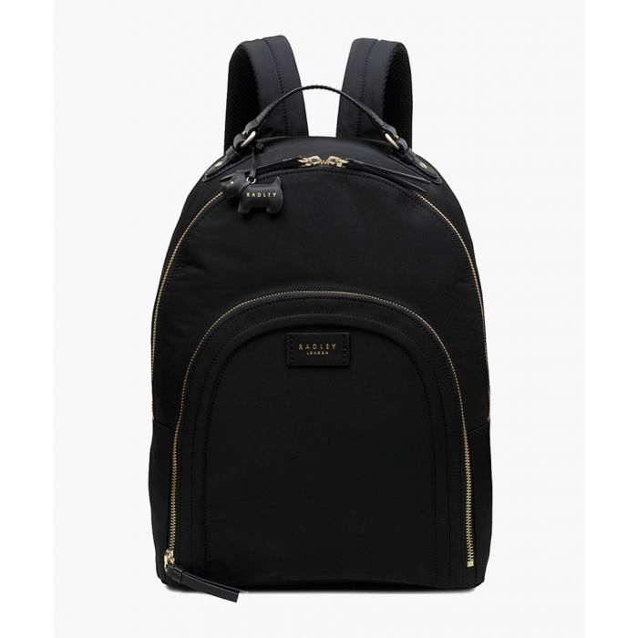 Image for Black large zip-around backpack