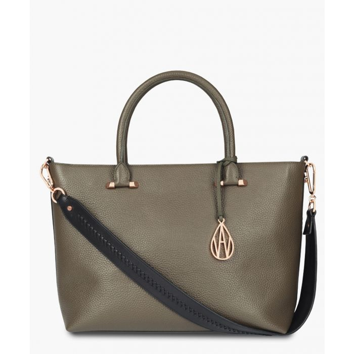 Image for Campbell khaki leather tote