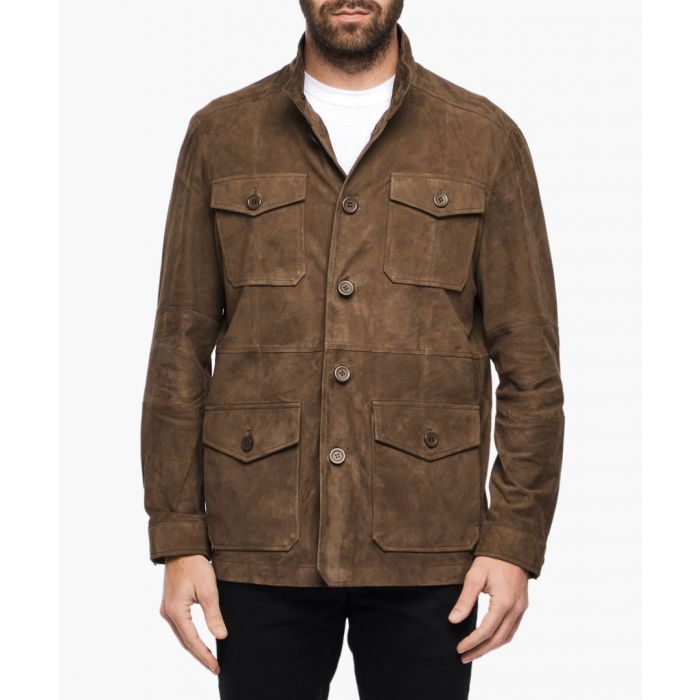 Image for Fabrice brown suede jacket