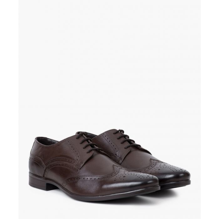 Image for Brown leather Derby brogues
