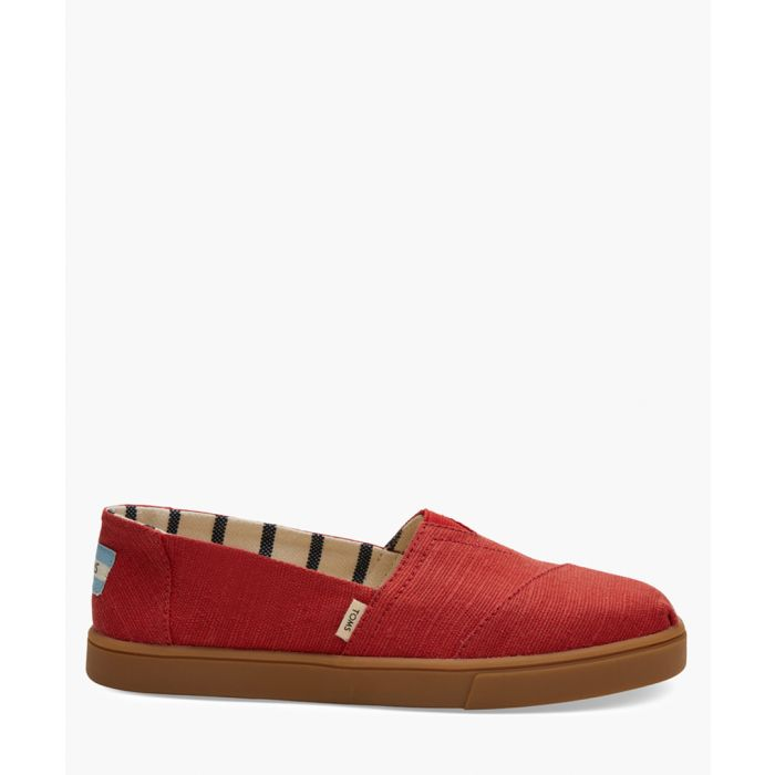 Image for Alpargata red canvas shoes