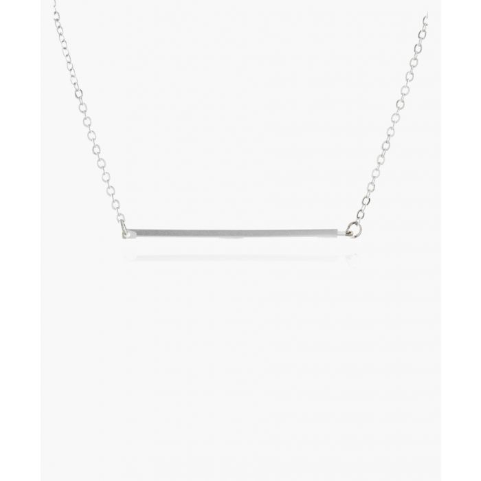 Image for Metal Bar rhodium-plated brass necklace