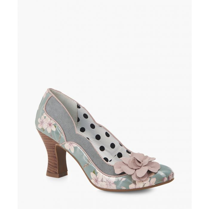 Image for Viola sage & blush floral heels