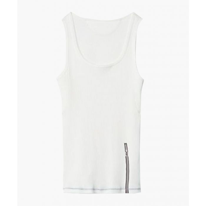 Image for Star white pure cotton vest