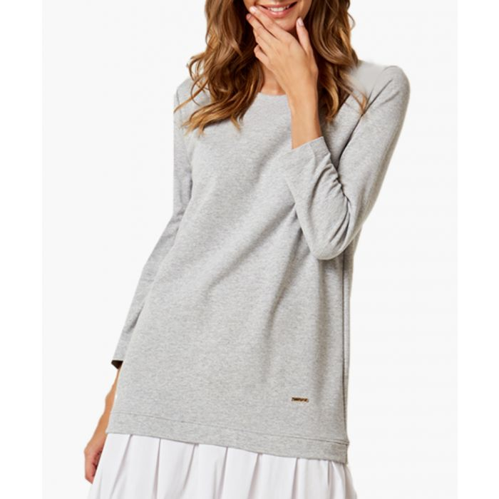 Image for Light grey A-line cut dress