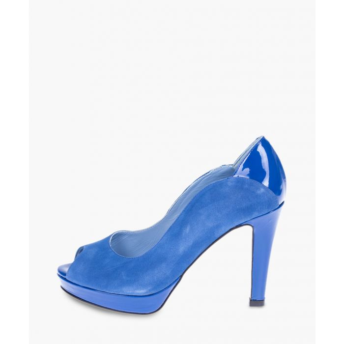 Image for Blue peep toe heels