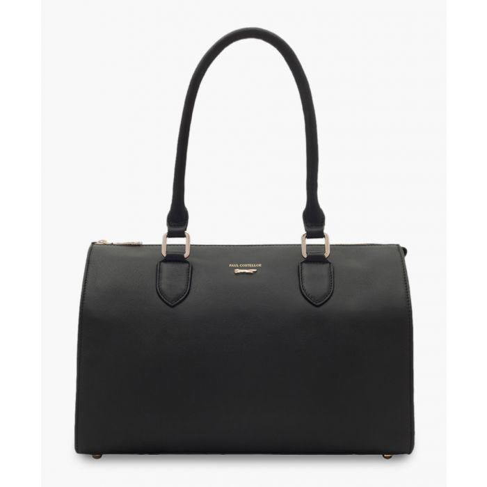 Image for Matera black leather shopper