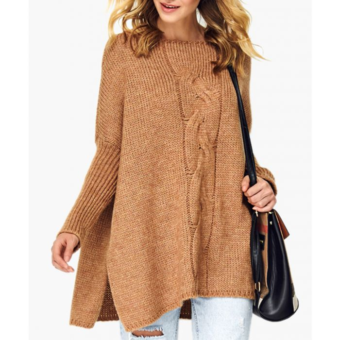 Image for Camel wool blend knitted sweater