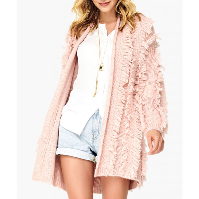 Image for Dirty pink wool blend knitted sweater