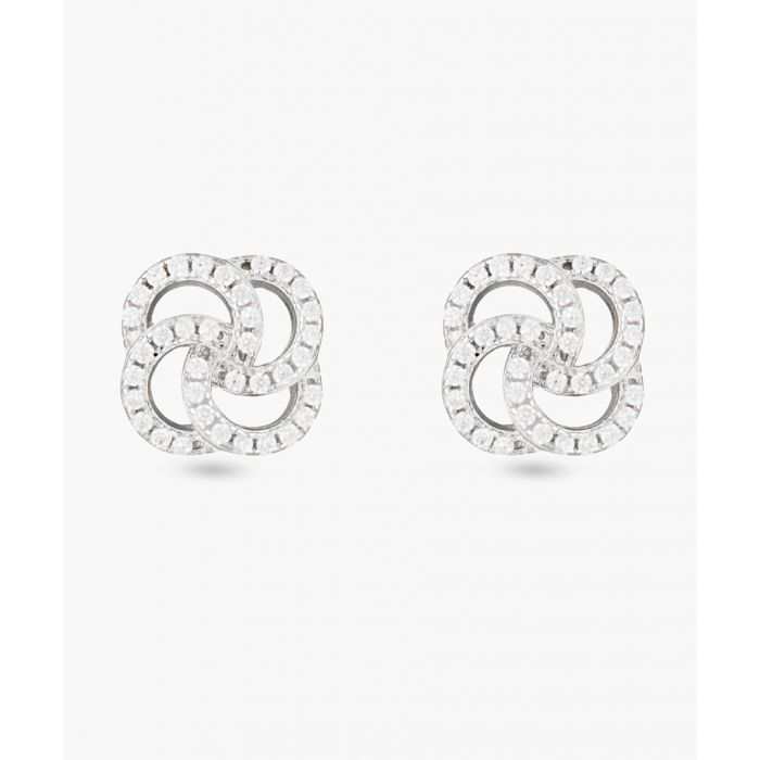 Image for Passion flowers silver-plated earrings