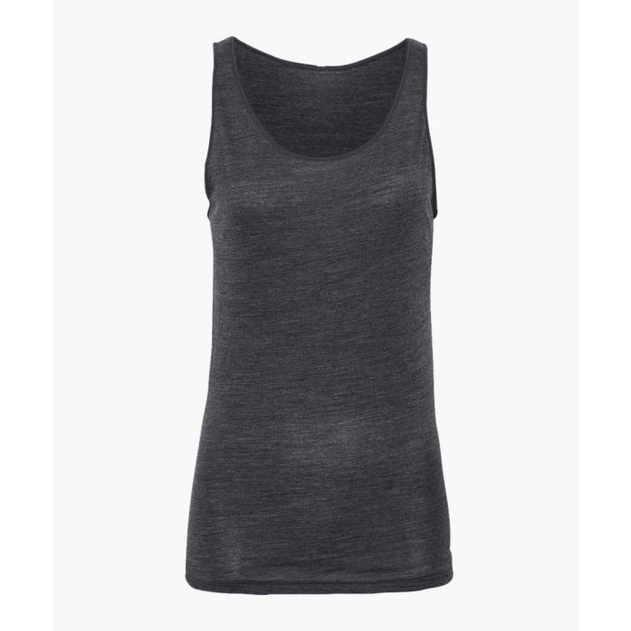 Image for Grey bamboo viscose and organic wool blend top