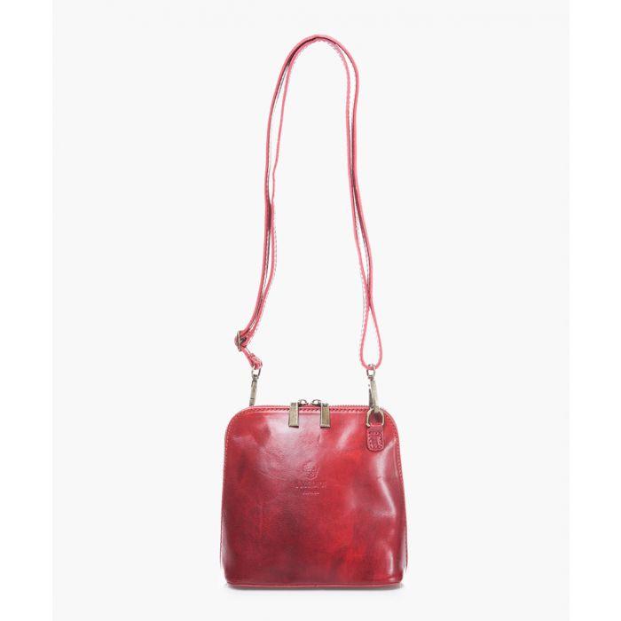 Image for Red leather shoulder bag