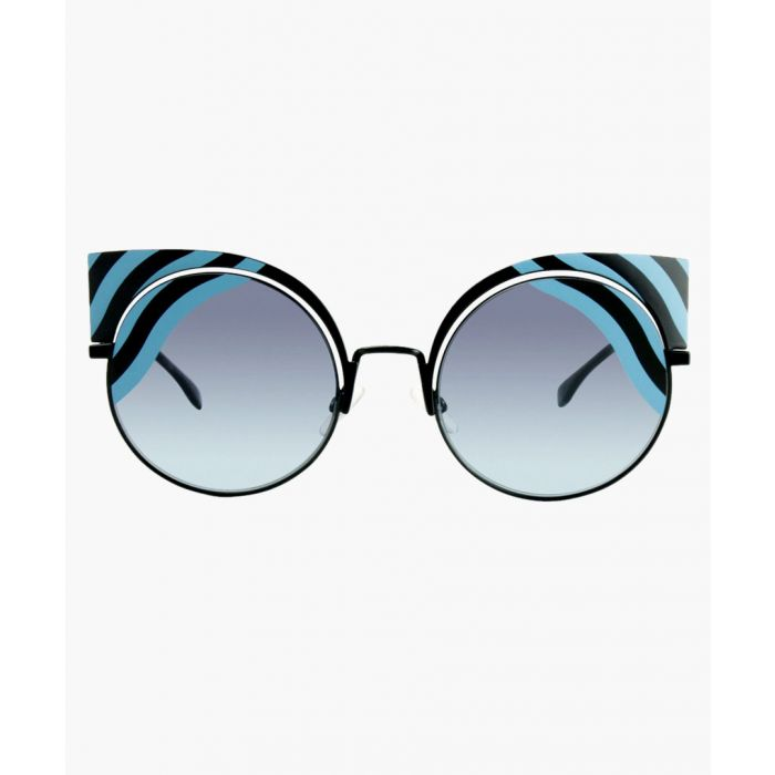 Image for Fendi SUNGLASSES Black Azure / Violet Azure